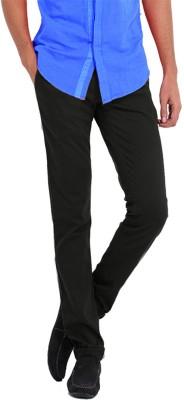Good Karma Regular Fit Men's Black Trousers