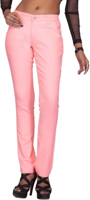 Bombay Slim Fit Women's Pink Trousers