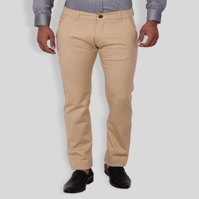 Sliver Tag Slim Fit Men's White Trousers