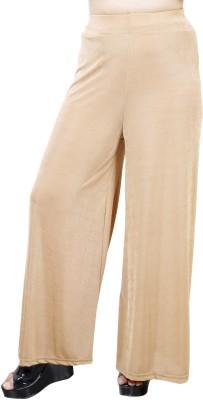 Urban Chic Regular Fit Women,s Beige Trousers