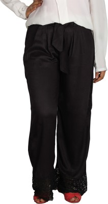 Shahfali Regular Fit Womens Black Trousers
