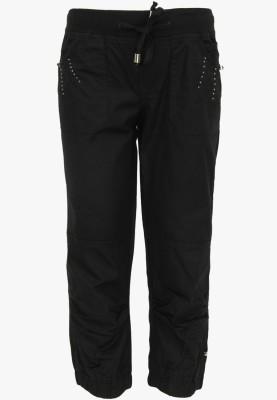 Cool Quotient Regular Fit Girl's Black Trousers