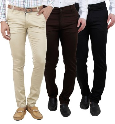 Ansh Fashion Wear Regular Fit Men's Multicolor Trousers