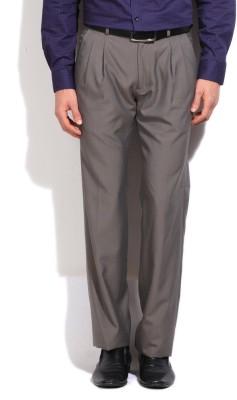 Arrow Slim Fit Men's Brown Trousers