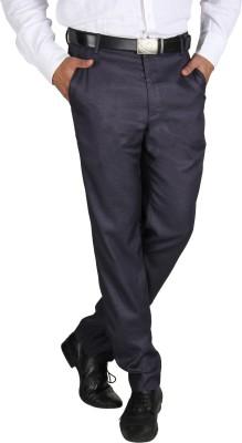 Platinum Studio Slim Fit Men's Black Trousers