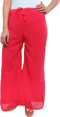White Feather Regular Fit Women's Red Trousers