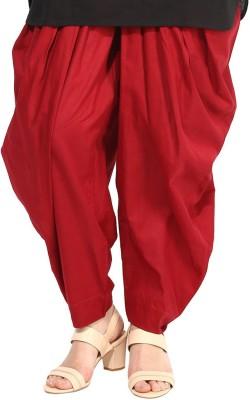 DESIGN HOUSE Regular Fit Women's Maroon Trousers