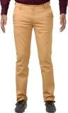 Indigen Slim Fit Men's Brown Trousers