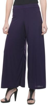 Mayra Regular Fit Women's Purple Trousers