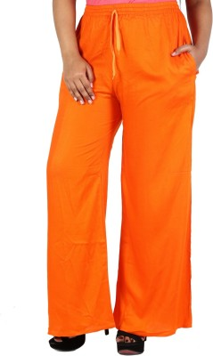 Nimya Regular Fit Women's Orange Trousers