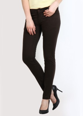 Fashion Cult Slim Fit Women,s Green Trousers