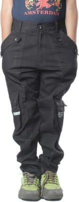 SETVEL Slim Fit Boy's Black Trousers