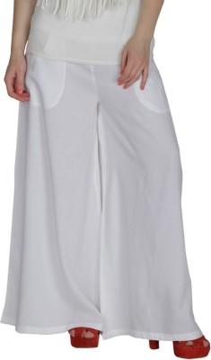 Feyona Regular Fit Women,s White Trousers