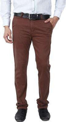 Crocks Club Slim Fit Men's Maroon Trousers