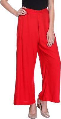 We Desi Regular Fit Women's Red Trousers