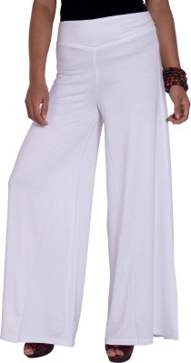 I-Vastra Regular Fit Women's White Trousers