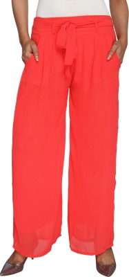 Nuts Clothing Regular Fit Women,s Pink Trousers