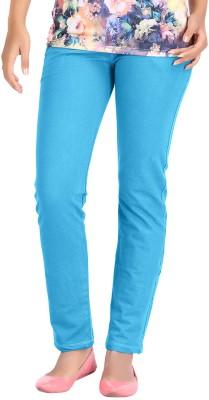 Hbhwear Slim Fit Women's Denim Light Blue Trousers