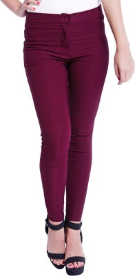 Globus Skinny Fit Women's Red Trousers