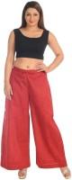 Salwar Studio Women's Clothing - Salwar Studio Regular Fit Women's Red Trousers