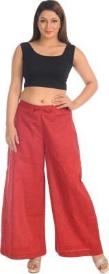 Salwar Studio Regular Fit Women's Red Trousers