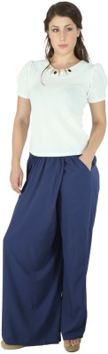 Fashionwardrobe Regular Fit Women's Dark Blue Trousers