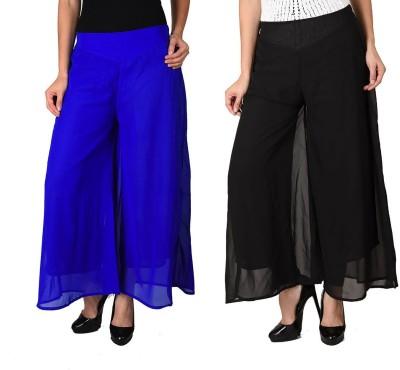 Kyron Regular Fit Women,s Black, Blue Trousers