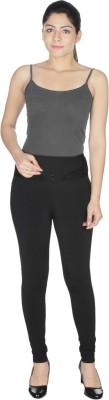 Honeybum Skinny Fit Women's Black Trousers