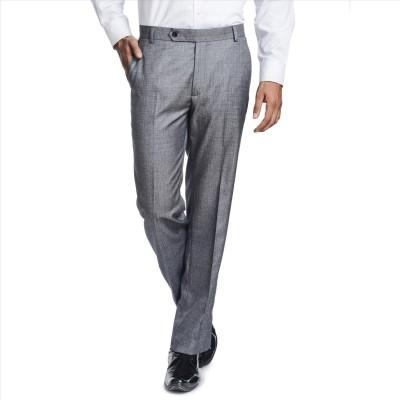 Adam In Style Regular Fit Men's Grey Trousers