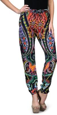Curvy Q Slim Fit Women's Multicolor Trousers