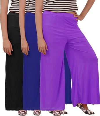 Ace Regular Fit Women's Purple, Black, Blue Trousers