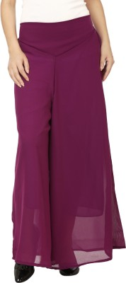 Lambency Regular Fit Women's Purple Trousers