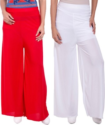 Komal Trading Co Regular Fit Women's Red, White Trousers