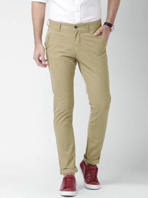 Mast & Harbour Regular Fit Men's Brown Trousers