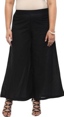 kira plus Regular Fit Women's Black Trousers