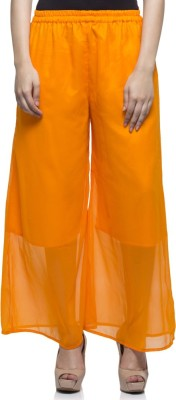 Laabha Regular Fit Women's Orange Trousers at flipkart