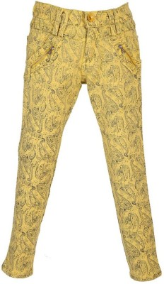 LEI CHIE Regular Fit Girl's Yellow Trousers