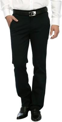 FRANK JEFFERSON Skinny Fit Men's Green Trousers