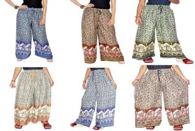 Jaipuri Bandhej Regular Fit Girl's Multicolor Trousers