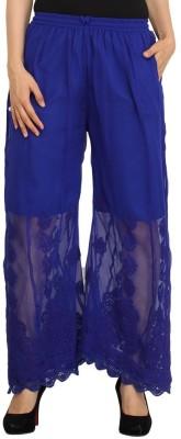 Indiankala4u Regular Fit Women's Blue Trousers