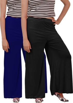 Ace Regular Fit Women's Black, Blue Trousers
