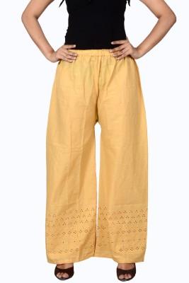 LYSTOCK Regular Fit Women's Beige Trousers