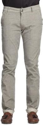 Beevee Regular Fit Men,s Cream Trousers