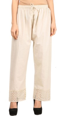 VASTRAA FUSION Regular Fit Women's Beige Trousers
