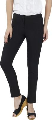 F Fashion Stylus Slim Fit Women's Black Trousers