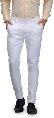 Global Nomad Slim Fit Men's White Trousers