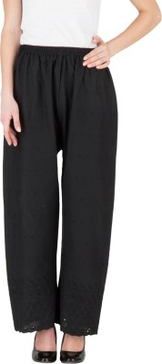 Castle Regular Fit Women's Black Trousers