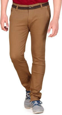 Private Image Slim Fit Men's Gold Trousers