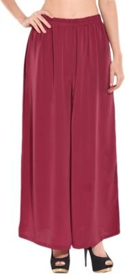 Rashik Regular Fit Women's Maroon Trousers
