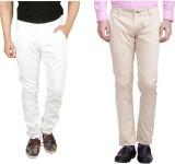 Nimegh Slim Fit Men's White, Cream Trous...
